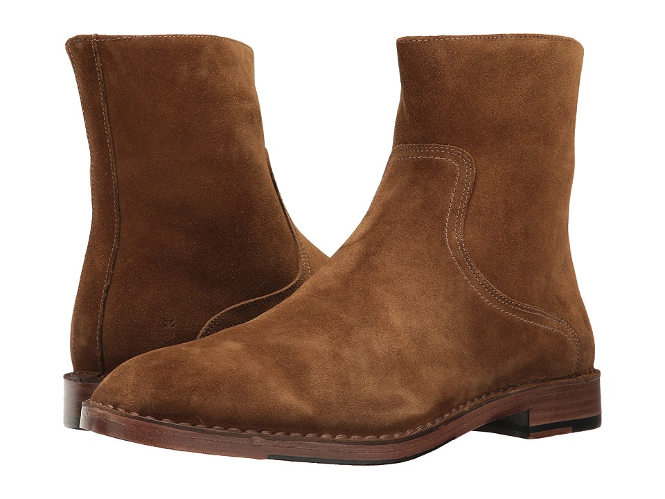 Frye - Mark Inside Zip (Khaki Oiled Suede) Mens Shoes