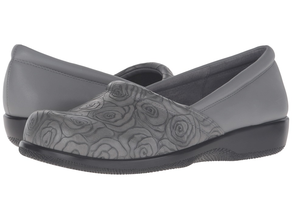 SoftWalk Adora (Grey Rose Embossed/Soft Nappa Leather) Women's Shoes