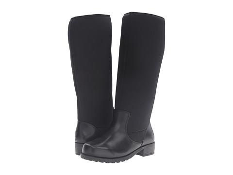 SoftWalk Biloxi Wide Calf - Black Smooth Leather