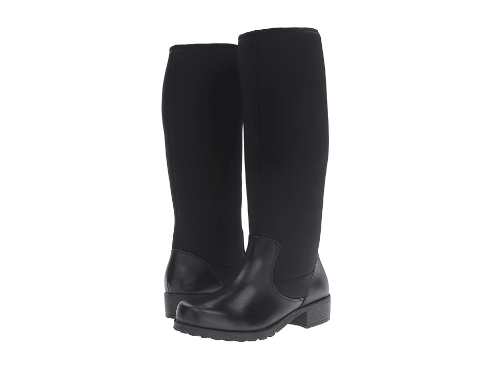 SoftWalk Biloxi (Black Smooth Leather) Women
