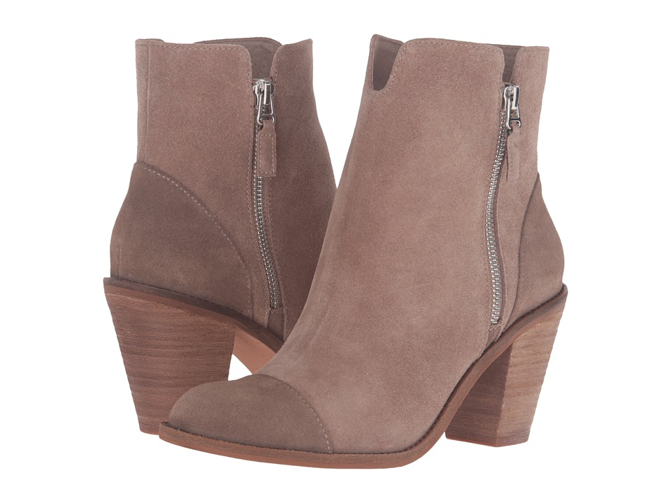 SoftWalk - Fairhill (Dark Taupe Cow Suede Leather) Women