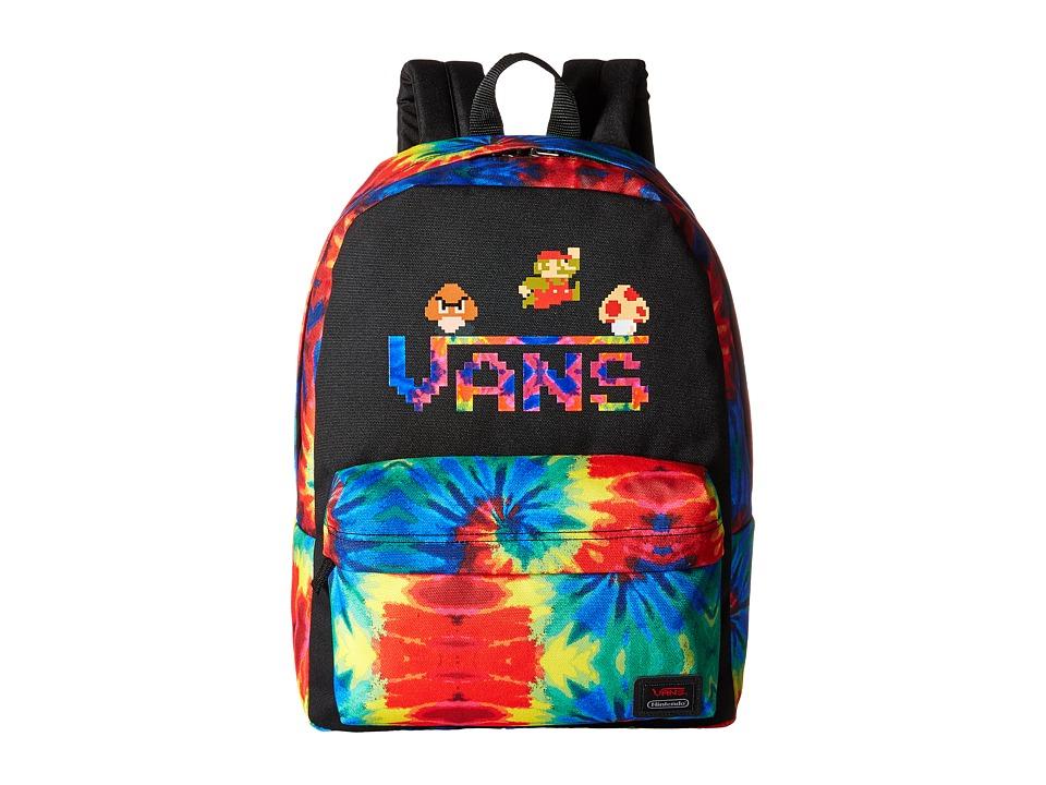 Vans - Nintendo Backpack (Mario Tie-Dye) Backpack Bags