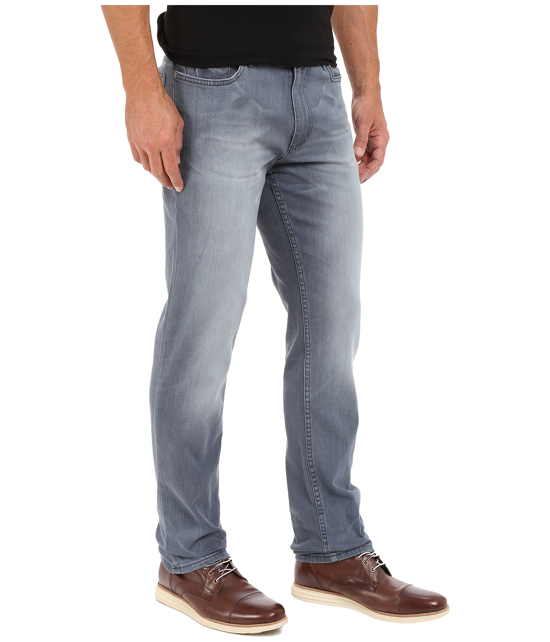 calvin klein jeans slim straight jeans in dusty indigo. Black Bedroom Furniture Sets. Home Design Ideas