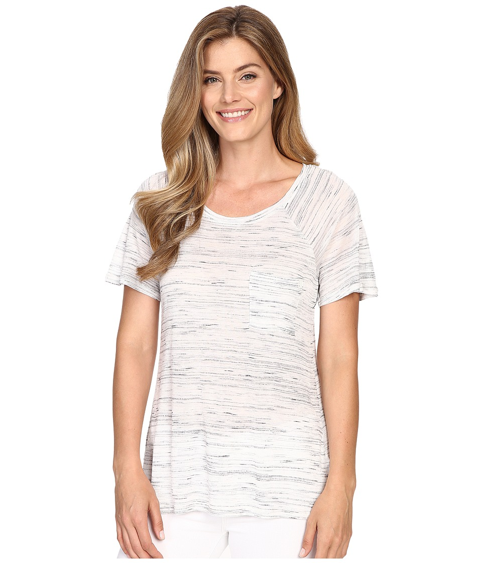 Calvin Klein Jeans Short Sleeve Fleck Raglan Tee Gardenia Womens T Shirt