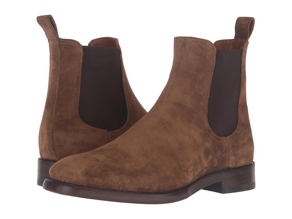 Frye - Weston Chelsea (Chestnut Oiled Suede) Mens Slip on  Shoes