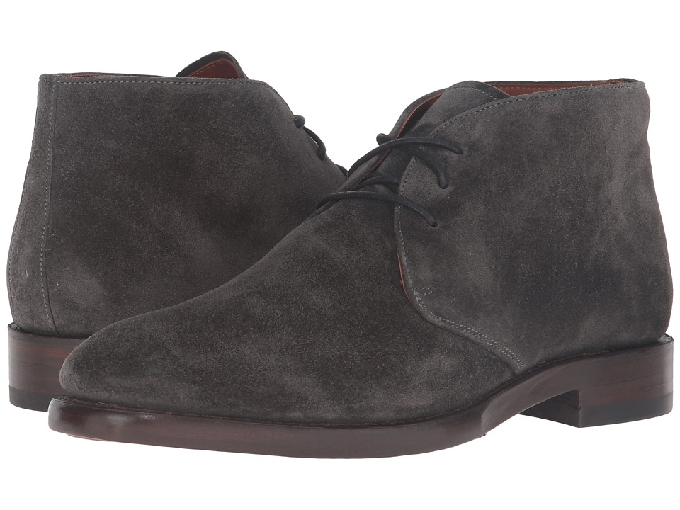 Frye - Weston Chukka (Charcoal Oiled Suede) Mens Slip on  Shoes