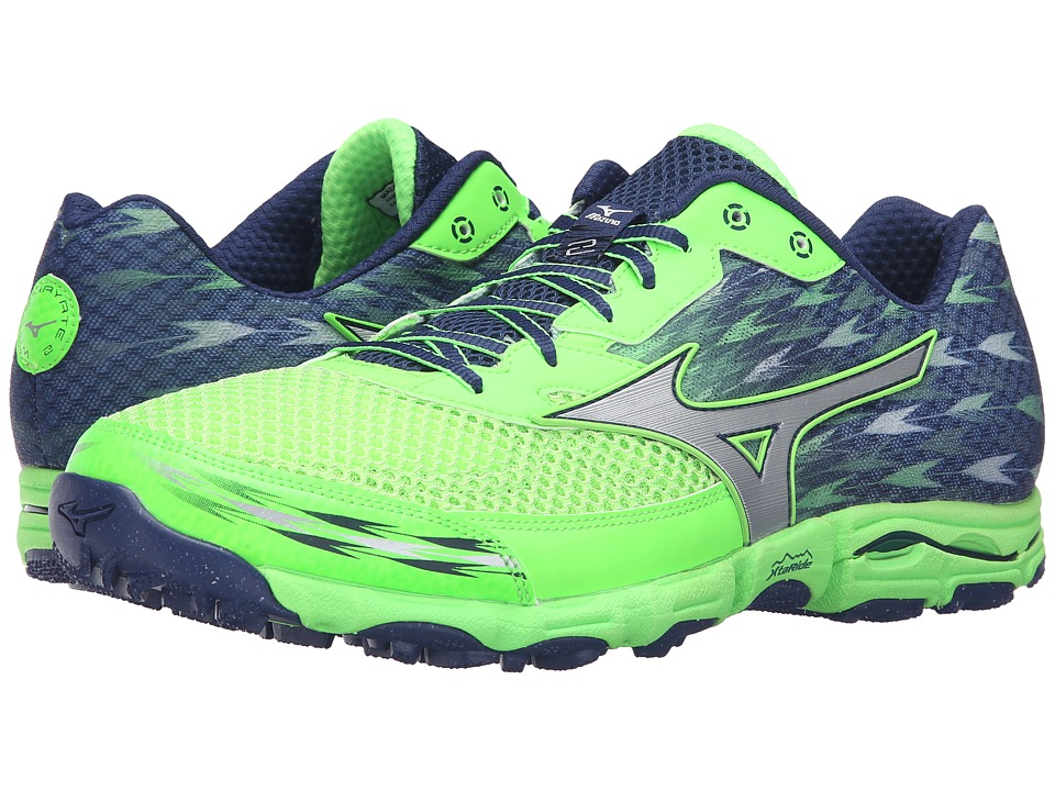 Mizuno - Wave Hayate 2 (Green Gecko/Blue Depths/Silver) Men