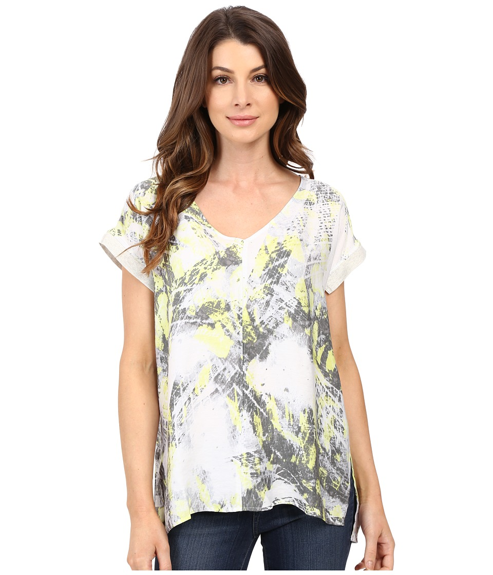 Calvin Klein Jeans Printed Top with Rib Detailing Radical Womens Clothing