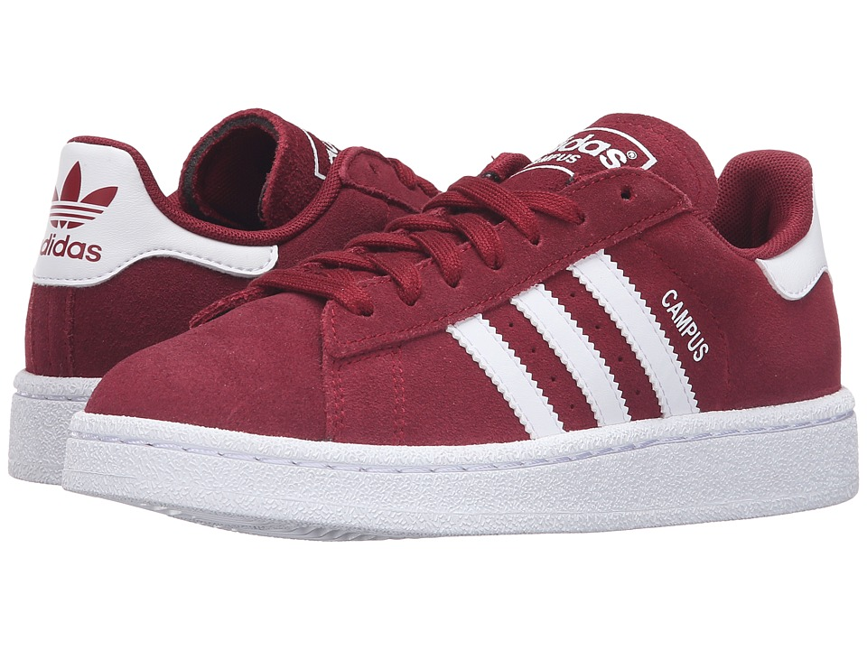 adidas Originals Kids - Campus J (Big Kid) (Collegiate Burgundy/White/White) Boys Shoes