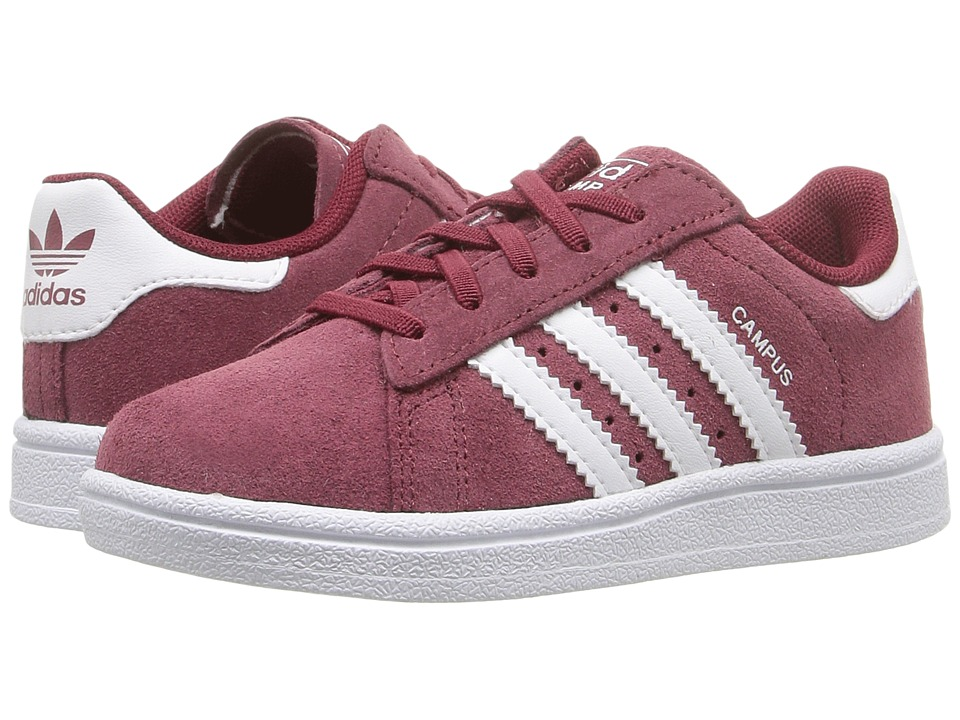 adidas Originals Kids Campus 2 (Toddler) (Collegiate Burgundy/White/White) Kids Shoes
