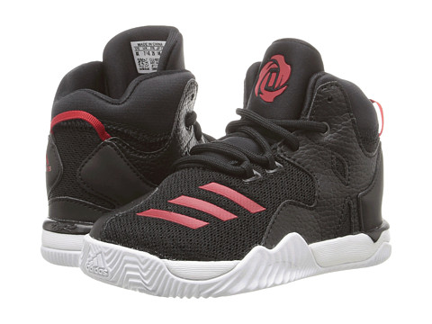 adidas Kids D Rose 7 (Infant/Toddler) - Core Black/Ray Red/Core Black