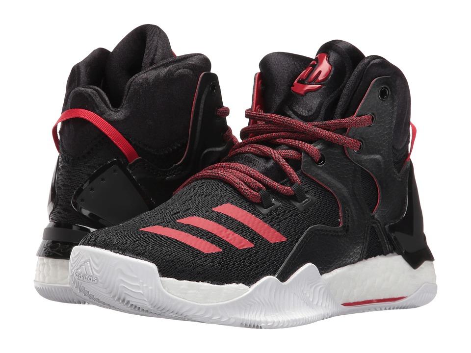 adidas Kids - D Rose 7 (Big Kid) (Core Black/Scarlet/Core Black) Boys Shoes