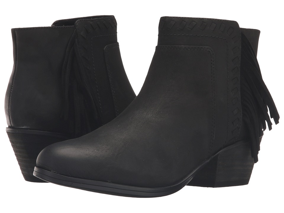 Clarks Gelata Flora (Black Leather) Women
