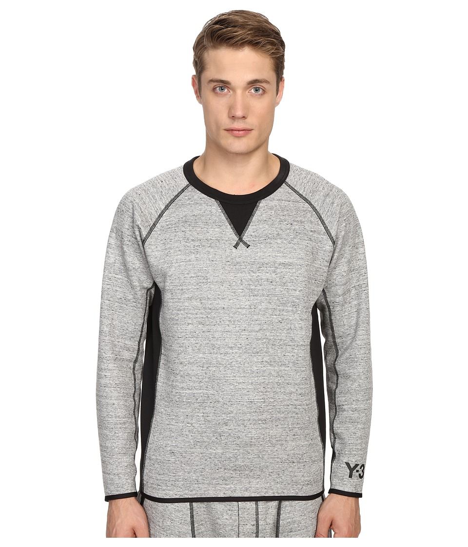 adidas Y 3 by Yohji Yamamoto Digital Sweater CC Grey Mens Long Sleeve Pullover