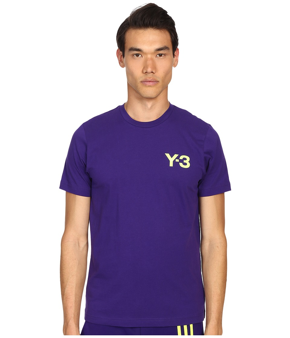 adidas Y 3 by Yohji Yamamoto CL Short Sleeve Tee Collegiate Purple Mens T Shirt