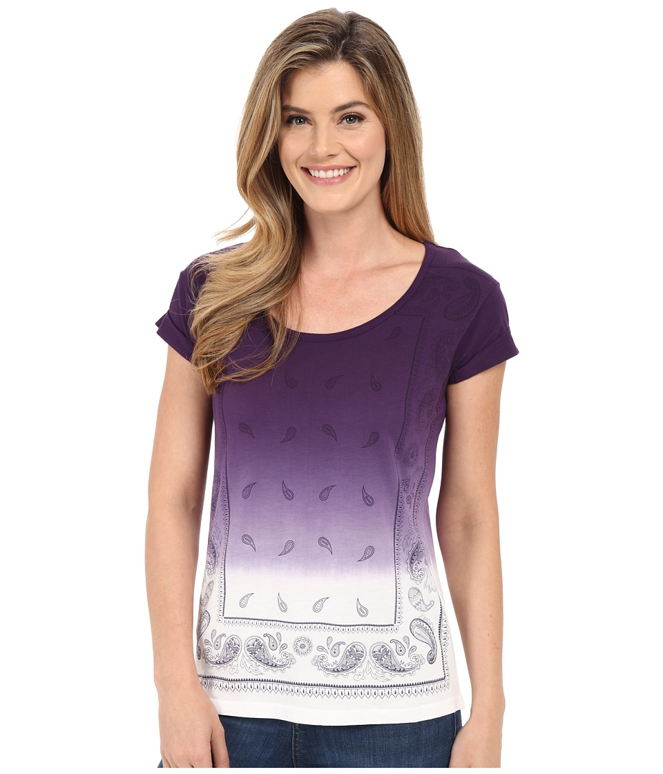 Cruel Cap Sleeve Tee with Front Screen Purple Womens T Shirt