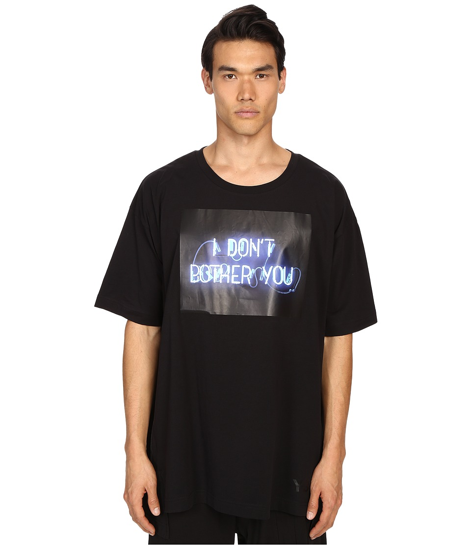 adidas Y 3 by Yohji Yamamoto Black Tee Black T Shirt