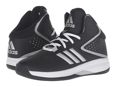 adidas Kids Cross Em Up 2016 (Little Kid/Big Kid) - Black/Silver Metallic/Clear Onix