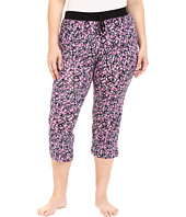 DKNY - Plus Size Black Abstract Capris