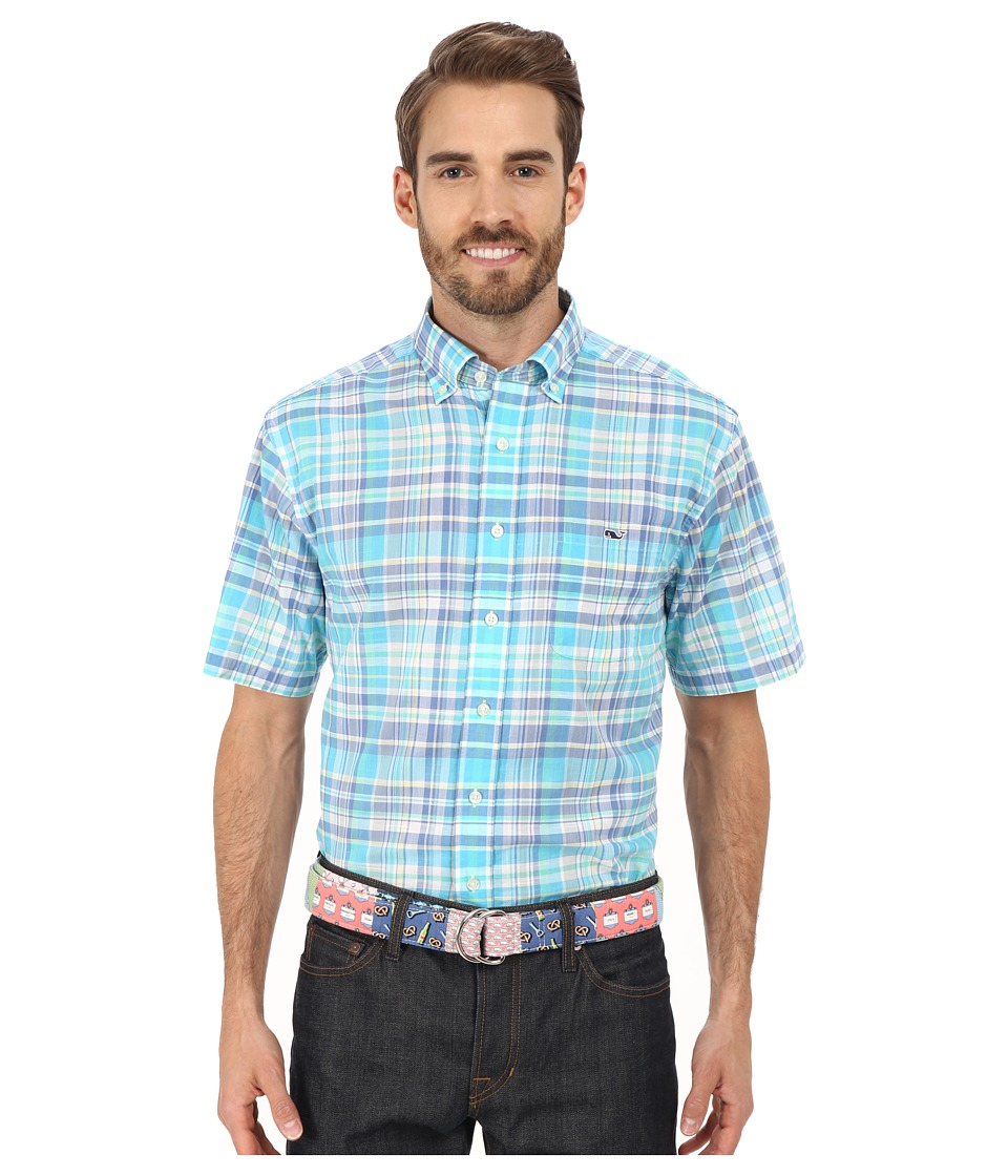 Vineyard Vines Bar Jack Plaid Short Sleeve Tucker Shirt Freshwater Mens Short Sleeve Button Up