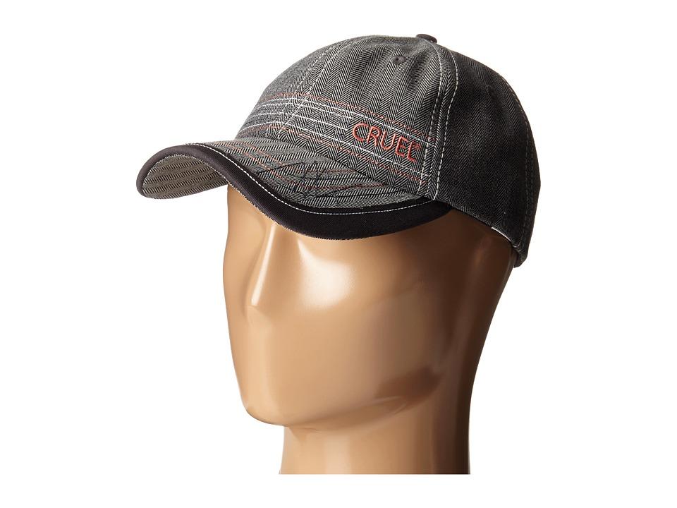 Cruel Herringbone Snapback Closure Gray Caps