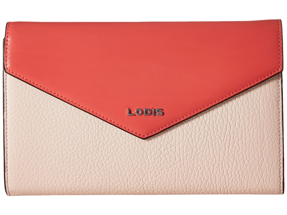 Lodis Accessories - Kate Gabi Wallet On A String (Coral) Wallet Handbags