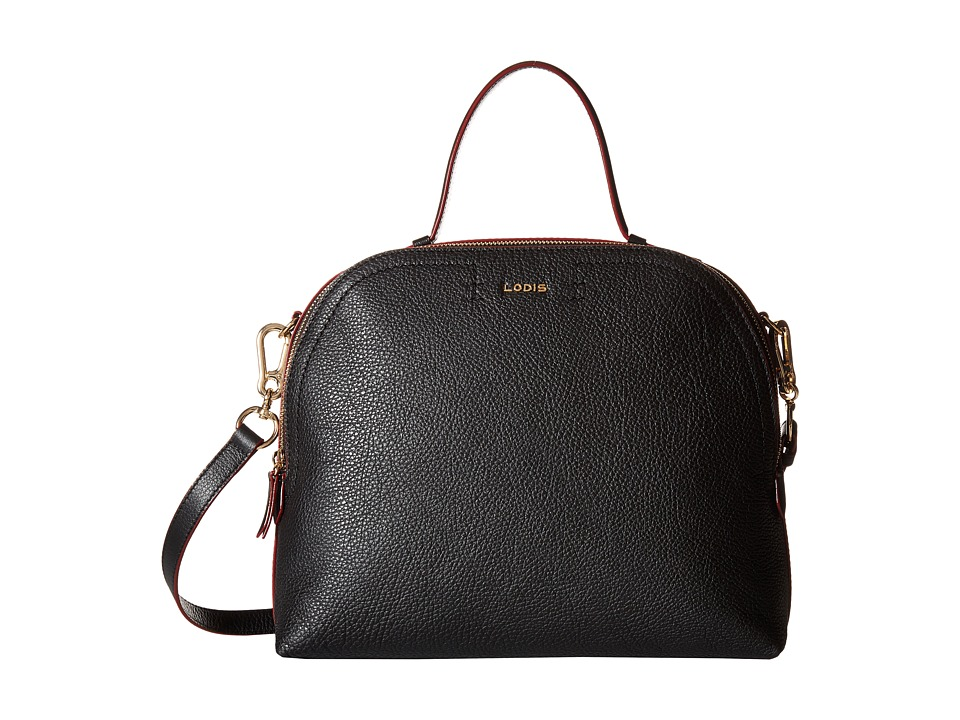Lodis Accessories - Kate Caitlyn Medium Satchel (Black) Satchel Handbags