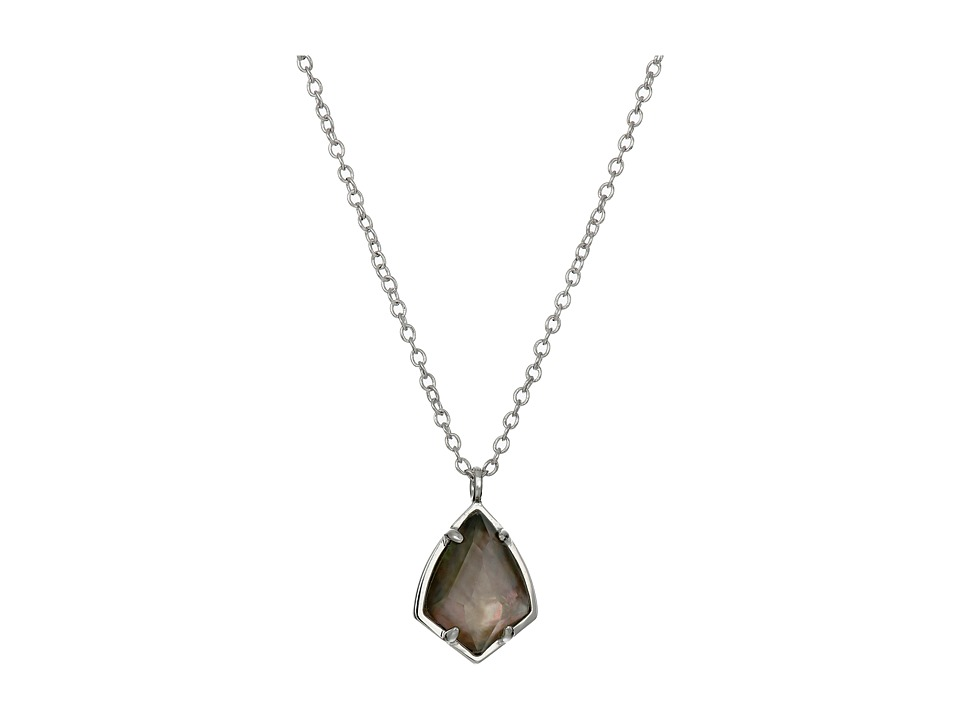 Kendra Scott Cory Necklace Rhodium/Black Mother of Pearl Necklace