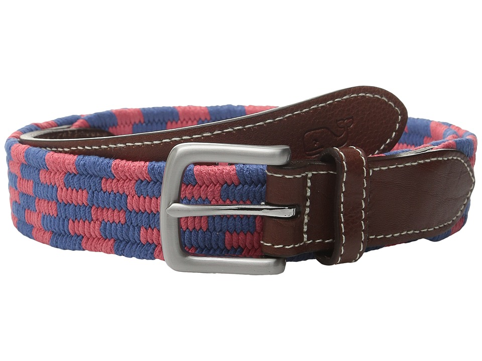 Vineyard Vines - Stacked Bungee Cord Belt (Jetty Red) Men