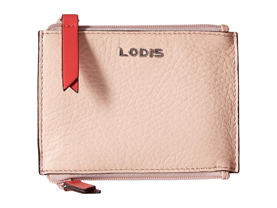 Lodis Accessories - Kate Frances Double Zip Pouch (Coral) Wallet Handbags