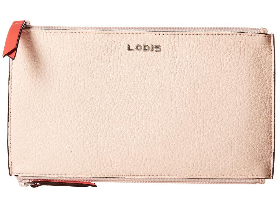Lodis Accessories - Kate Lani Double Zip Pouch (Coral) Wallet Handbags