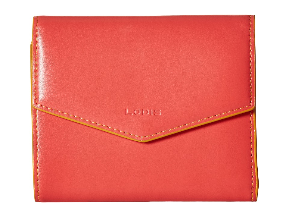 Lodis Accessories - Audrey Lana French Purse (Coral/Maize) Wallet Handbags