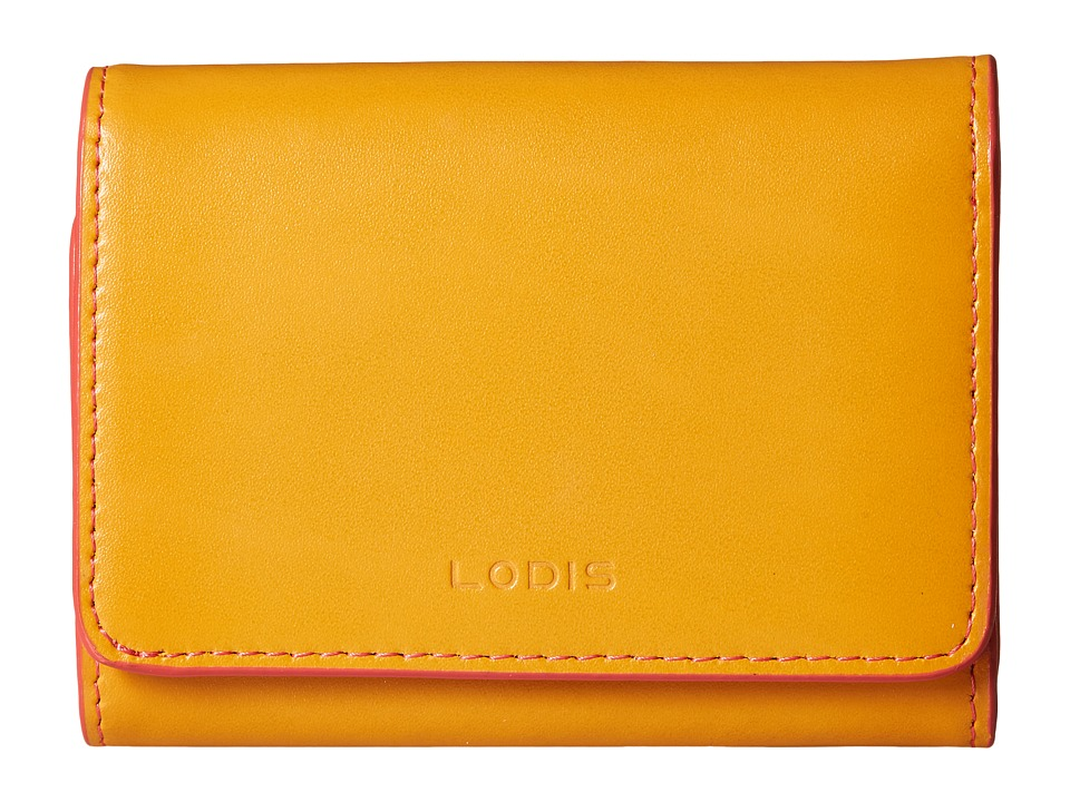 Lodis Accessories - Audrey Mallory French Purse (Maize/Coral) Wallet Handbags