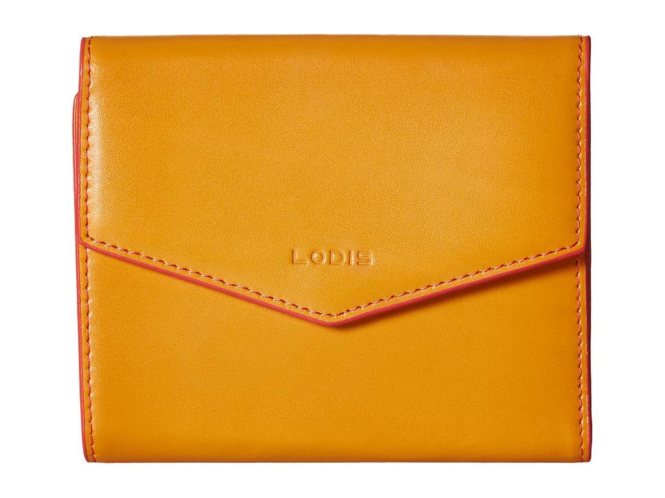 Lodis Accessories - Audrey Lana French Purse (Maize/Coral) Wallet Handbags