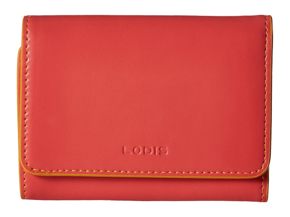 Lodis Accessories - Audrey Mallory French Purse (Coral/Maize) Wallet Handbags