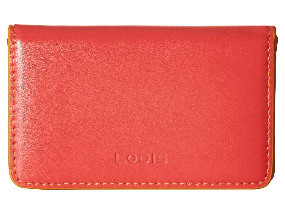 Lodis Accessories - Audrey Mini Card Case (Coral/Maize) Credit card Wallet