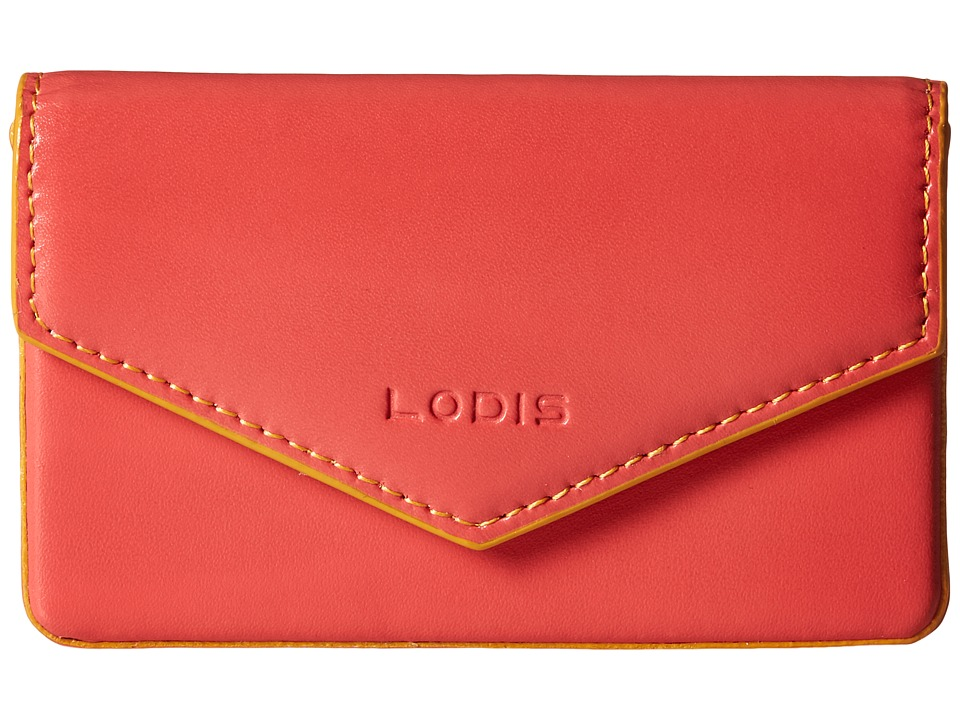 Lodis Accessories - Audrey Maya Card Case (Coral/Maize) Credit card Wallet
