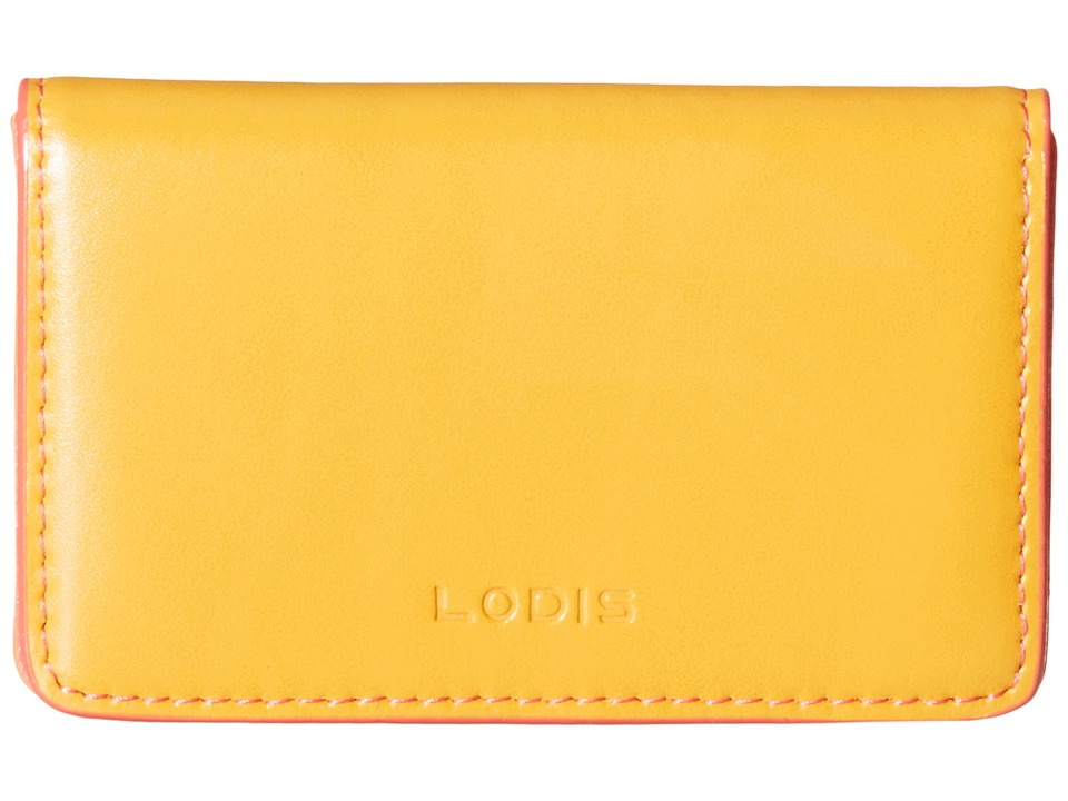 Lodis Accessories - Audrey Mini Card Case (Maize/Coral) Credit card Wallet