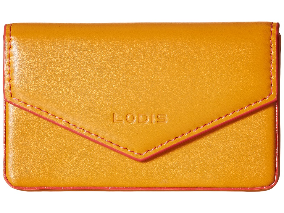 Lodis Accessories - Audrey Maya Card Case (Maize/Coral) Credit card Wallet
