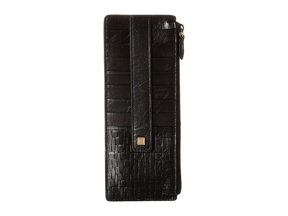 Lodis Accessories - Palma Credit Card Case w/ Zipper Pocket (Black) Credit card Wallet