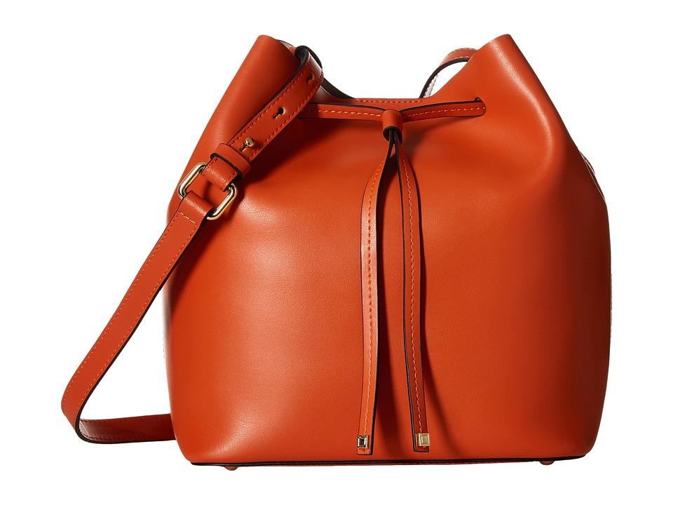Lodis Accessories - Blair Gail Medium Crossbody (Papaya/Taupe) Cross Body Handbags