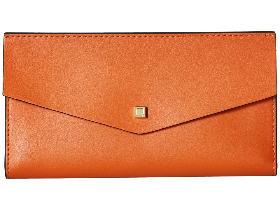 Lodis Accessories - Blair Amanda Continental Clutch (Papaya/Taupe) Clutch Handbags