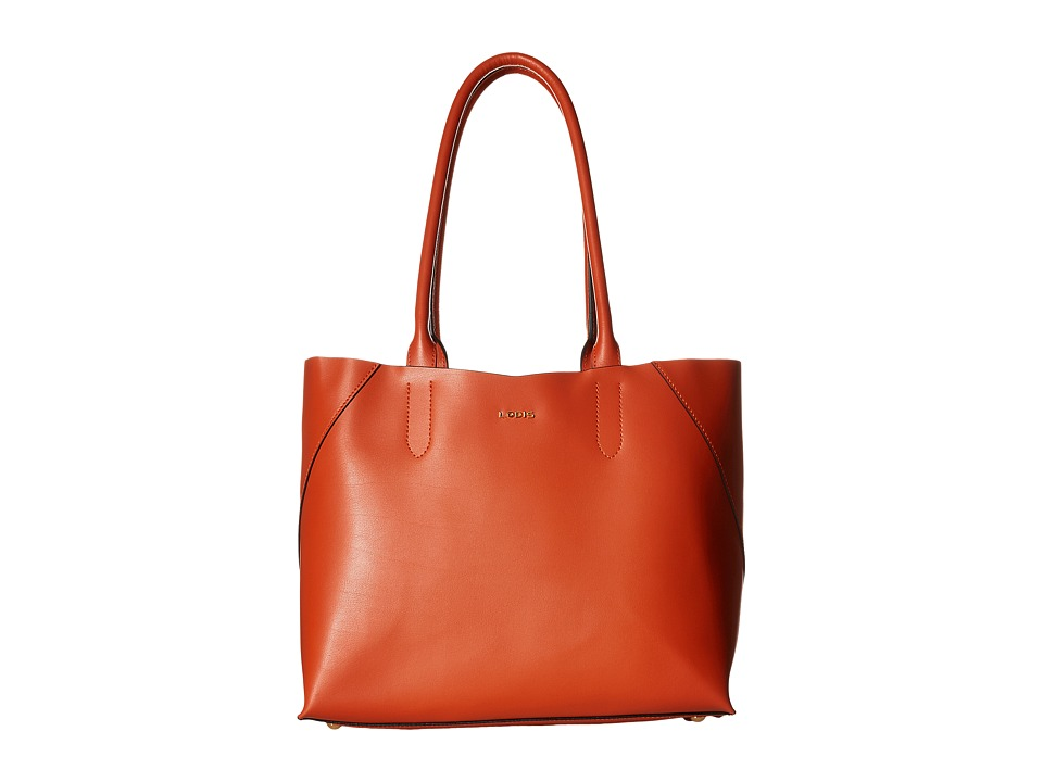 Lodis Accessories - Blair Cynthia Tote (Papaya/Taupe) Tote Handbags