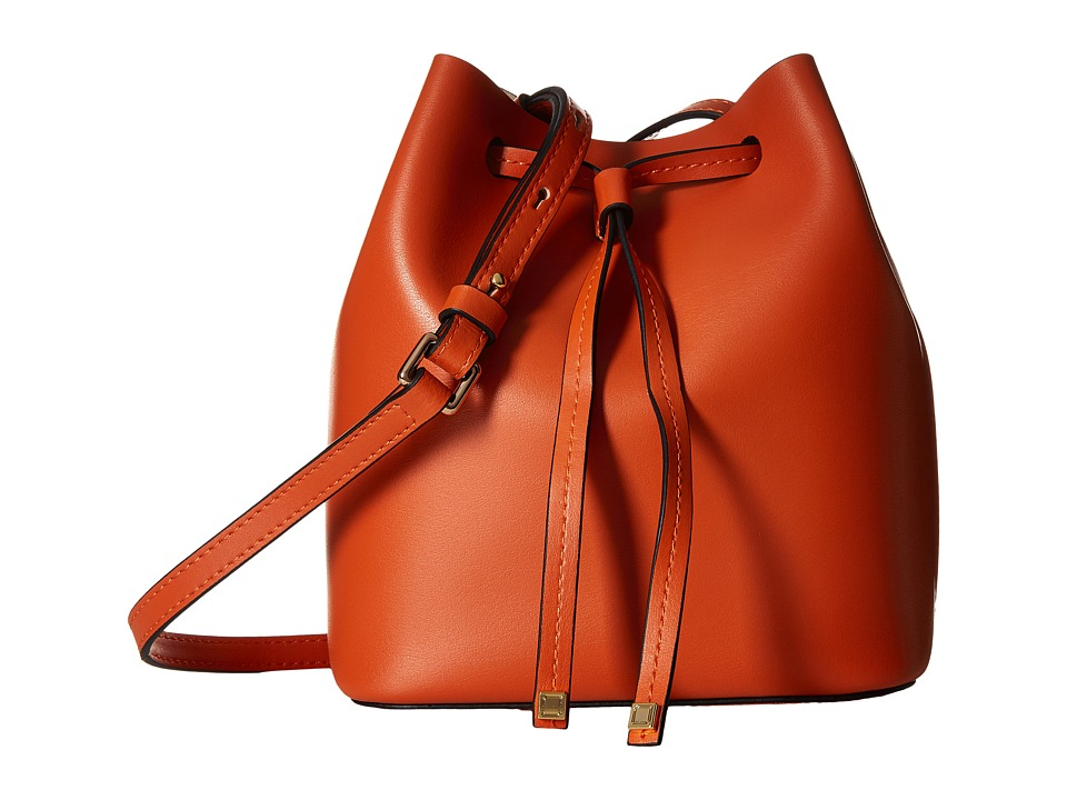 Lodis Accessories - Blair Blake Small Drawstring (Papaya/Taupe) Drawstring Handbags
