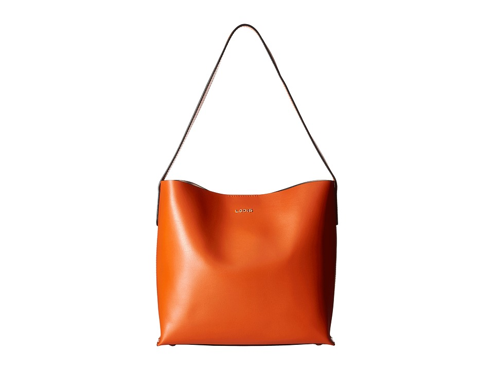 Lodis Accessories - Blair Addy Bucket (Papaya/Taupe) Tote Handbags