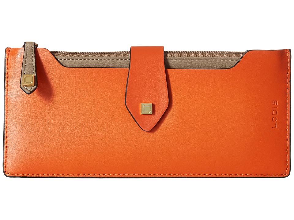Lodis Accessories - Blair Sandy Multi Pouch Wallet (Papaya/Taupe) Clutch Handbags