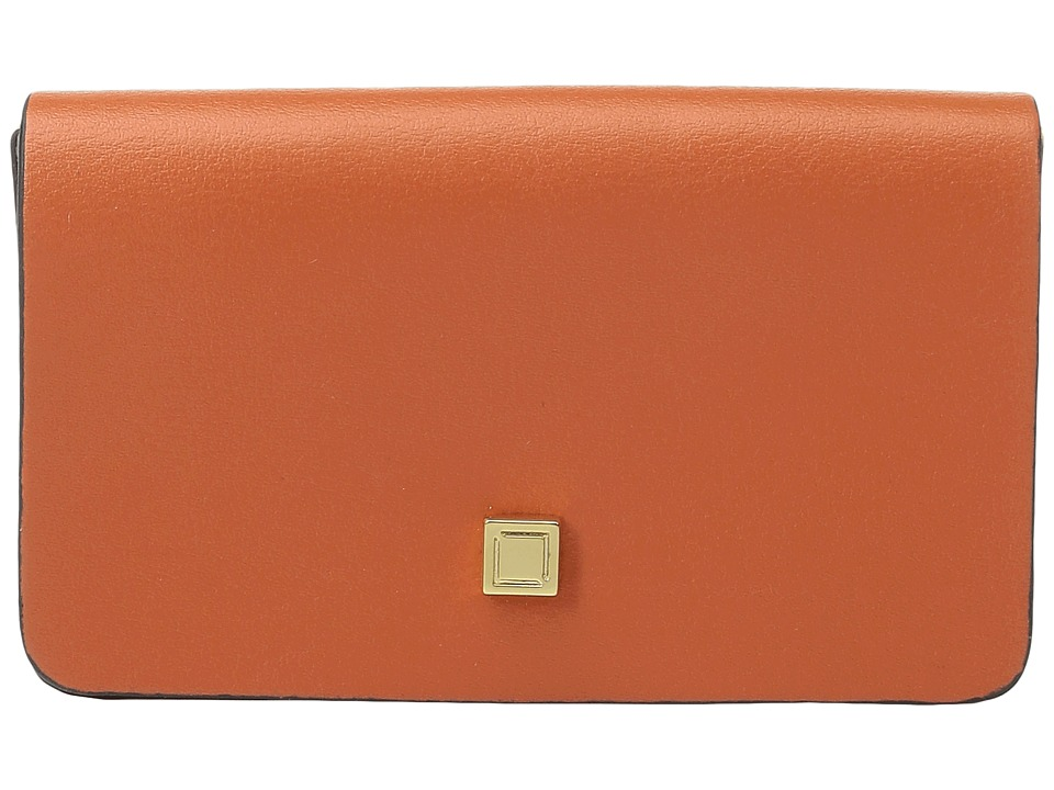Lodis Accessories - Blair Mini Card Case (Papaya/Taupe) Credit card Wallet
