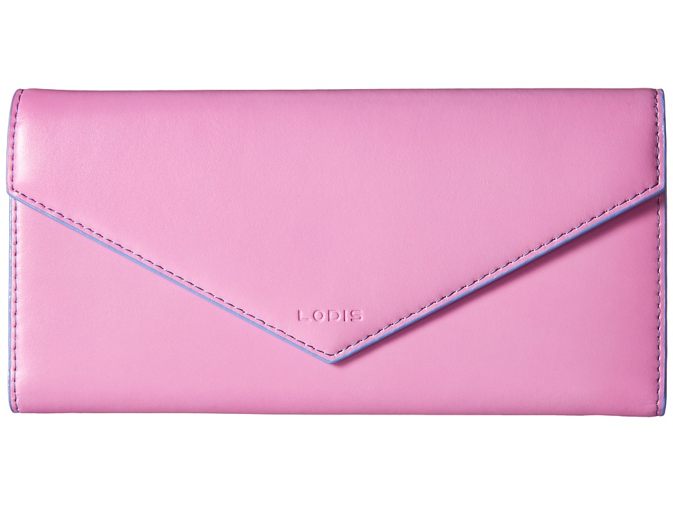 Lodis Accessories - Audrey Alix Trifold (Rose/Lilac) Wallet Handbags
