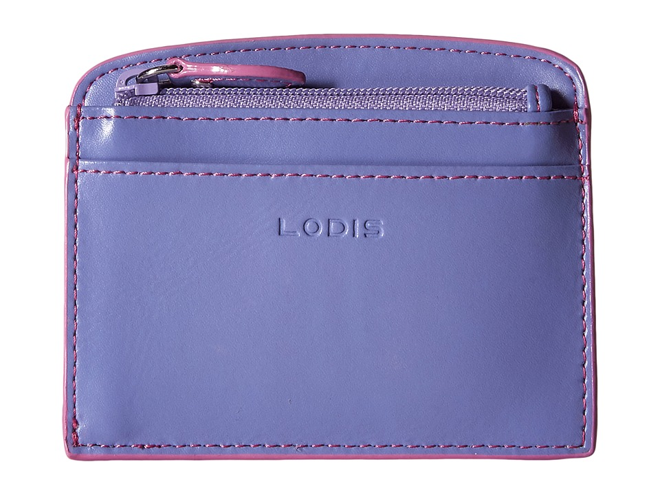 Lodis Accessories - Audrey Laci Card Case (Lilac/Rose) Wallet