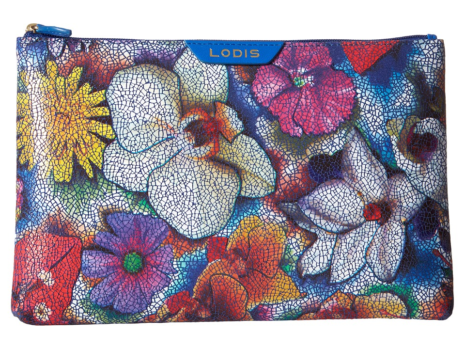 Lodis Accessories - Vanessa Garden Flat Pouch (Multi) Travel Pouch